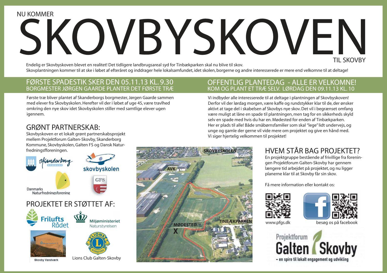 Indbydelse til plantning af Skovbyskoven